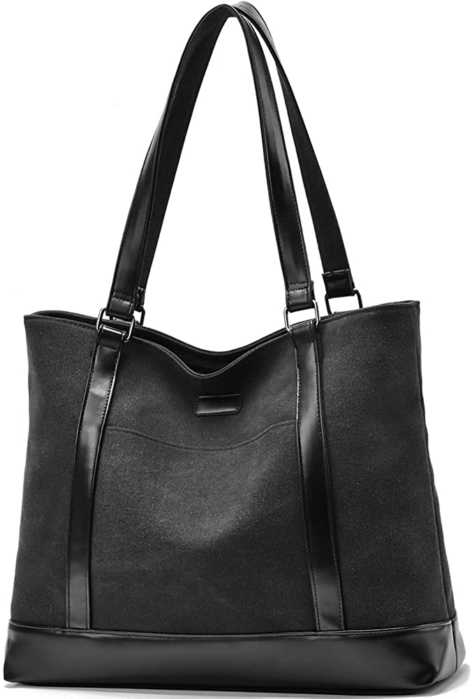 Women Laptop Tote Bag Canvas 15.6 Inch Business School Computer Shoulder Bag