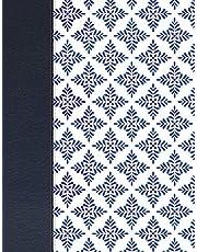 NVI Biblia de Apuntes blanco y azul símil piel