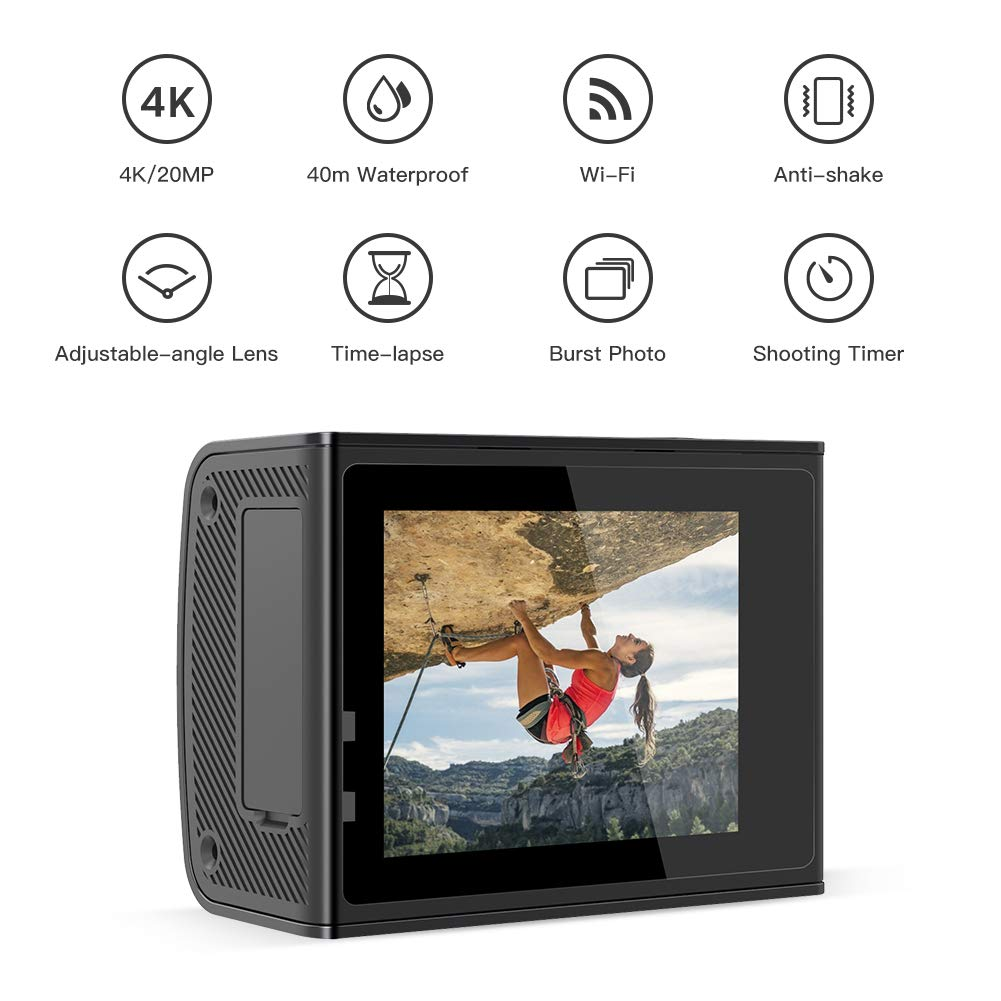 Amazon.com: Crosstour Cámara de acción Ultra HD 4K 20MP WiFi ...
