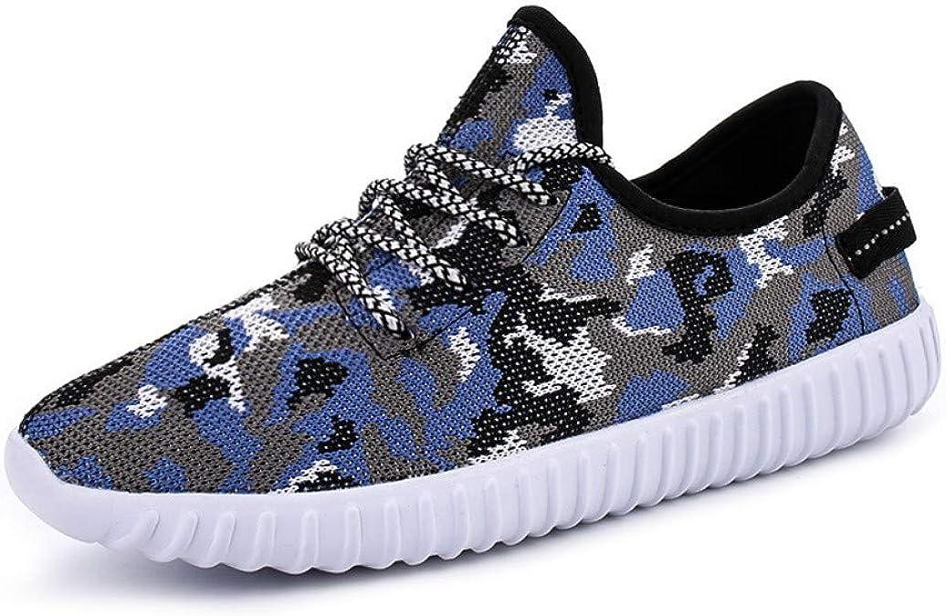 Alta elas ticity, Zapatillas Deportivas ultraligeras, Zapatillas Deportivas Transpirables, Zapatillas de Coco para Hombre, Camuflaje Azul, 40: Amazon.es: Zapatos y complementos