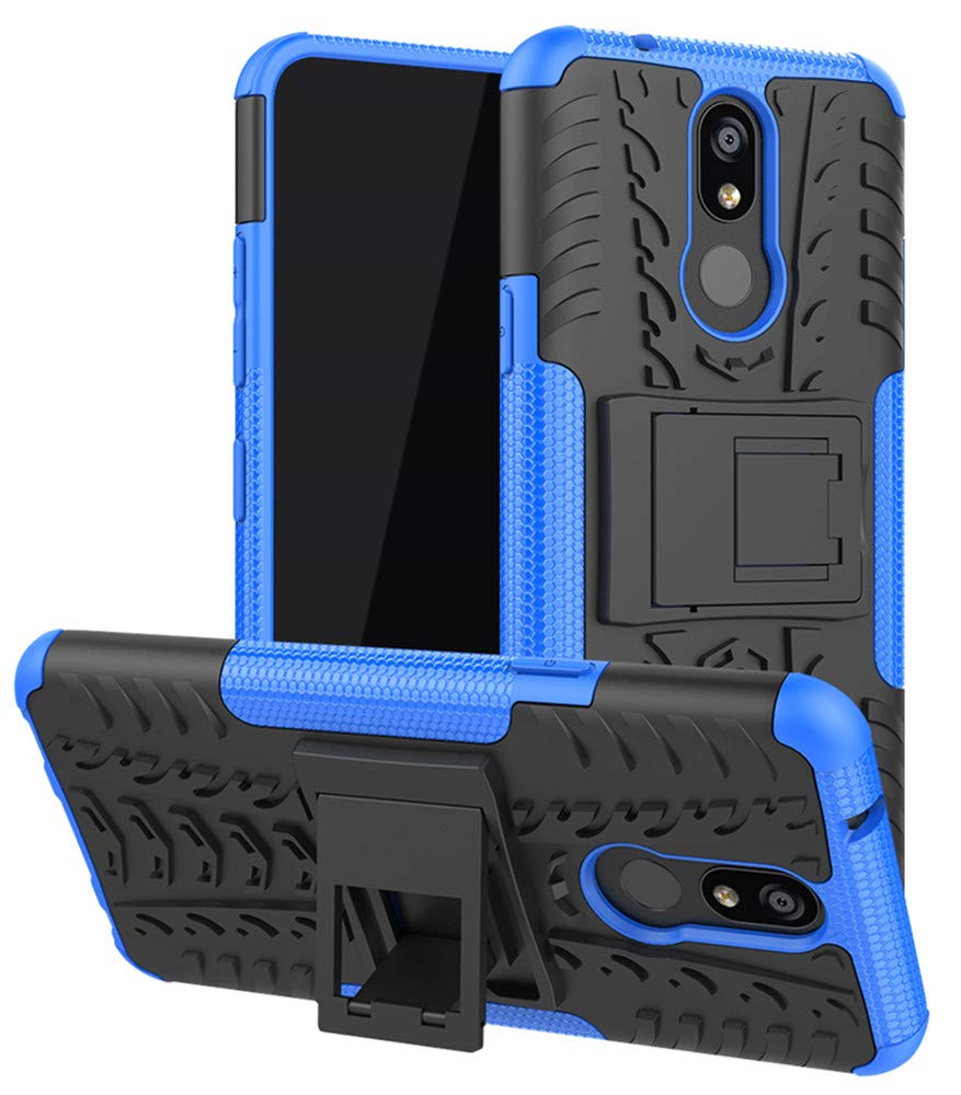 Yiakeng LG K40 Case, LG Expression Plus 2 Phone Case, LG Solo LTE Case, Heavy Duty Protection with Kickstand Slim Phone Cases (Blue)