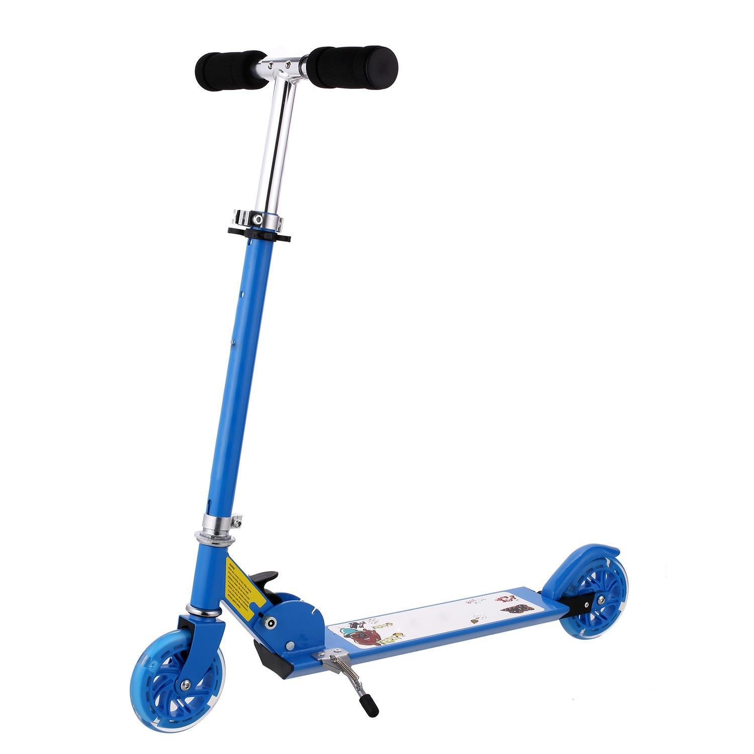 PEATAO Kick Scooter for Kids, Foldable Adjustable Height Lighted Wheel Kick Scooter 88 LBS Weight Limit (US STOCK)