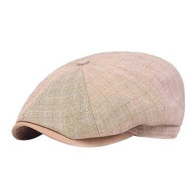 Drawihi Boina Hombre Sombreros Gorras Algodón Ajustable Al Aire ...