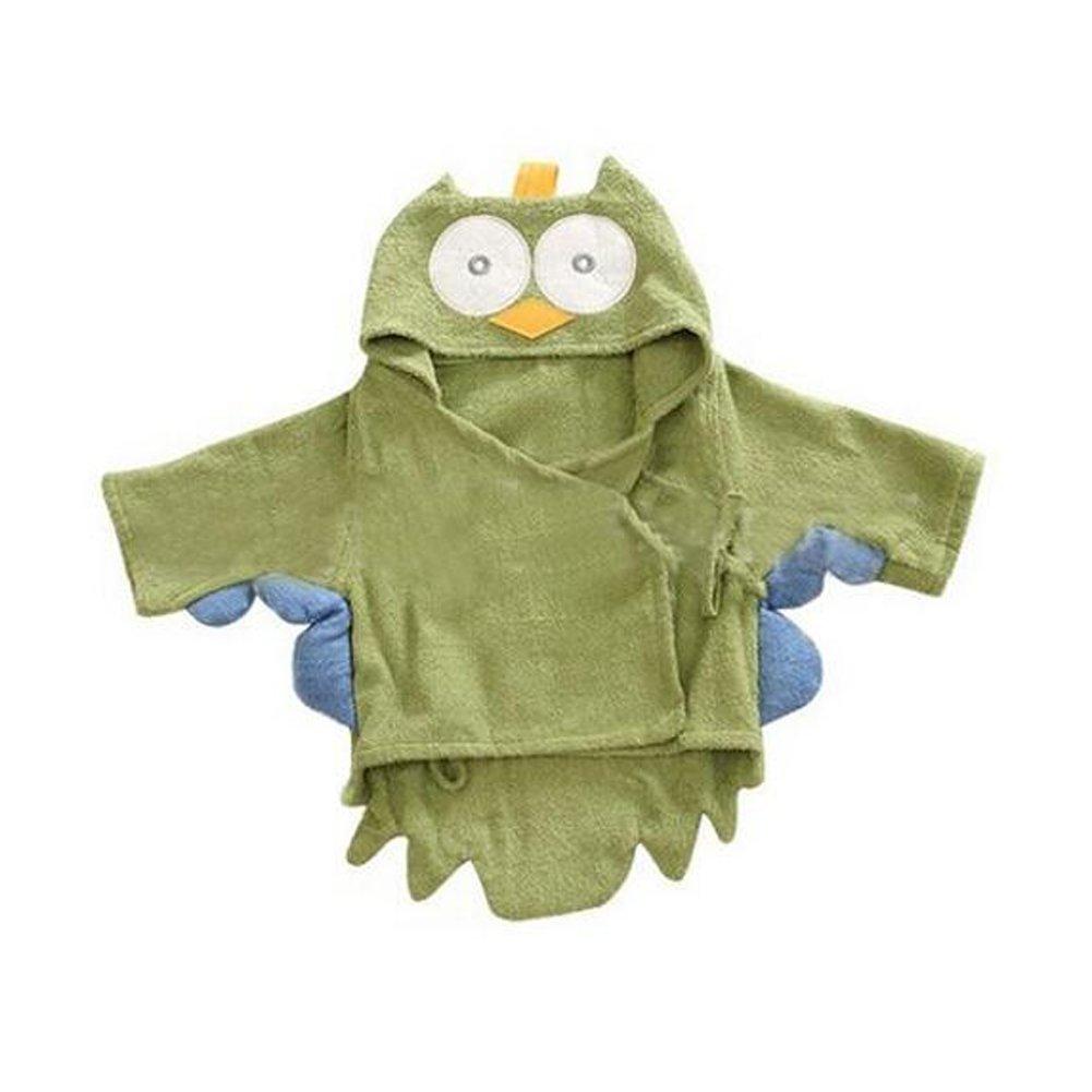 Yunsenshop Baby Girls /& Boys Hooded Animal Bathrobe Robes Bath Towel Super Soft Owl