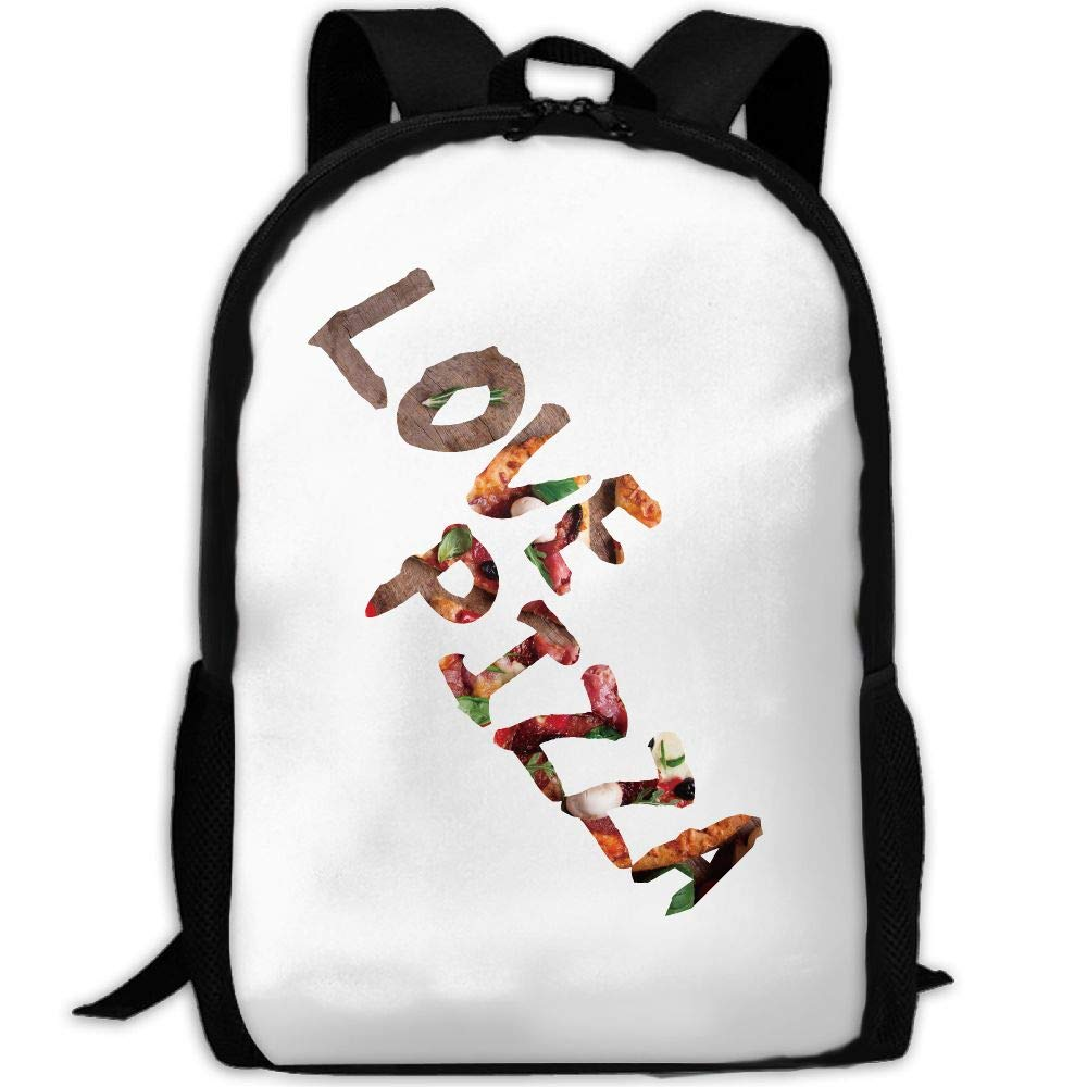 ZQBAAD Love Pizza Luxury Print Men and Women's Travel Knapsack