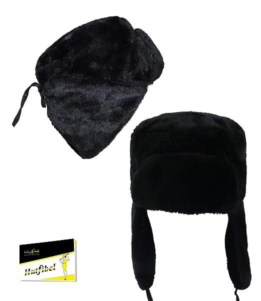 EveryHead - Cappello aviatore - Tinta unita - Uomo Nero Taglia unica   Amazon.it  Abbigliamento 34b8f47ab944