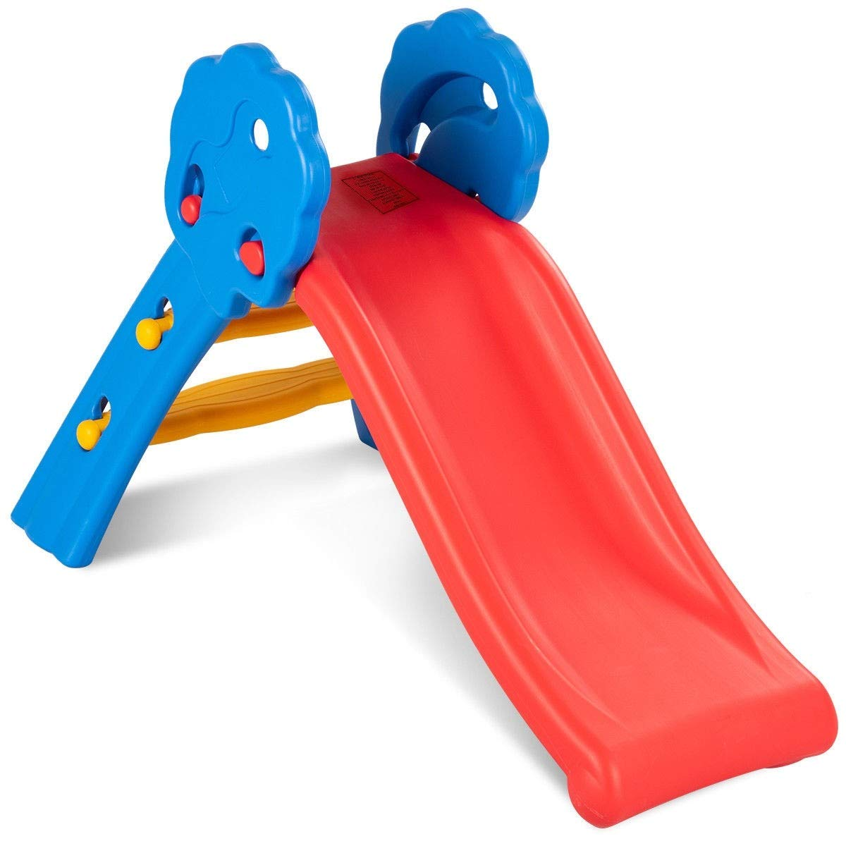 MD Group Folding Up-down Slide Plastic Toy In/Outdoor Children Portable Lightweight Fun Step Kids Play