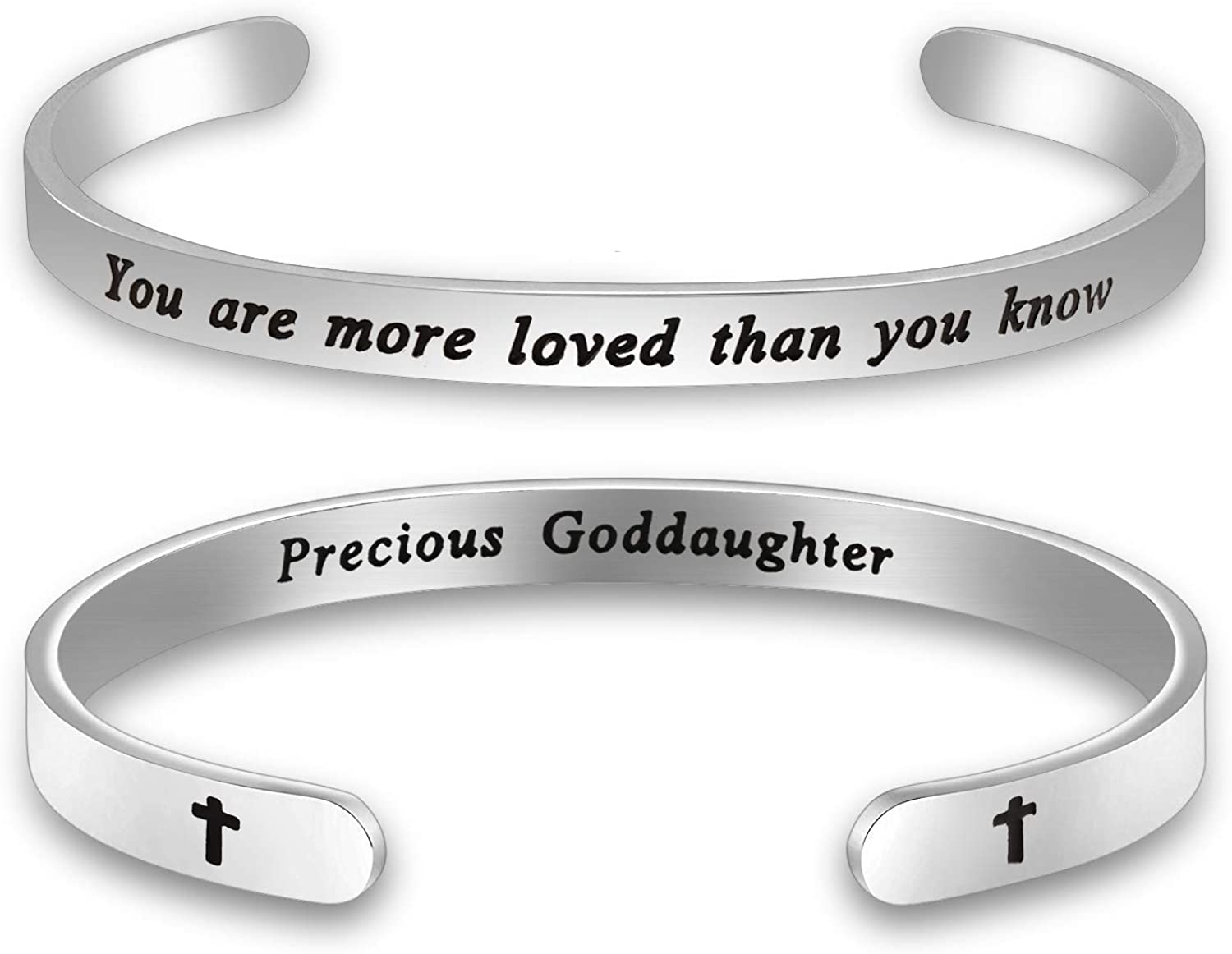 MAOFAED Goddaughter Gift You are More Loved Than You Know Goddaughter Bracelet