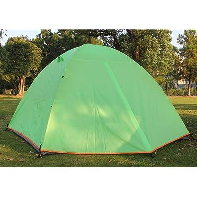 MONEYY Piscine double double-porte aluminium tente tente de camping 200*200*130cm anti-tempête de plein air