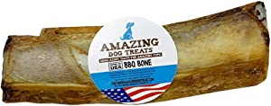"""5-7"""" Meaty Smoked Rib Bones (5, 10, 20 and 50 Count) - Made in USA - Rib Bones for Dogs - Natural Smoked USA Grass Fed Cattle Rib Bone Dog Chew"""