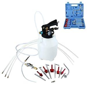 FreeTec Kit de Extracción de Aceite Neumático y Líquido de 6 Litros con 14 ATF Adaptadores