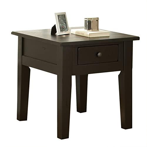 Steve Silver Company Liberty End Table, Antique Black, 23 x 27 x 24