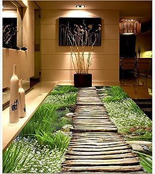 Weaeo Moderne Aufkleber 3d 3d Gang Boden Pflanzen Und Blumen