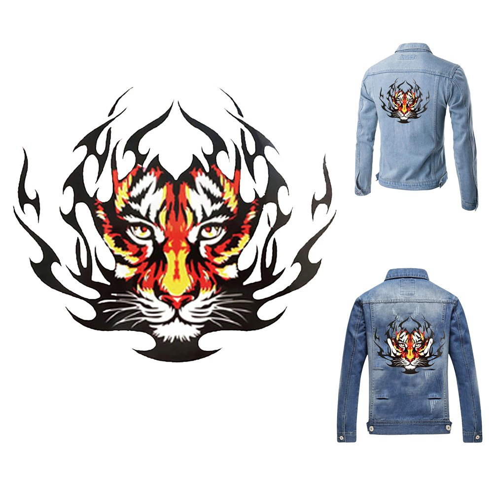 Amazon com artem tiger sticker clothes patch hot heat transfers stickers iron on for tops t shirts diy decoration applique