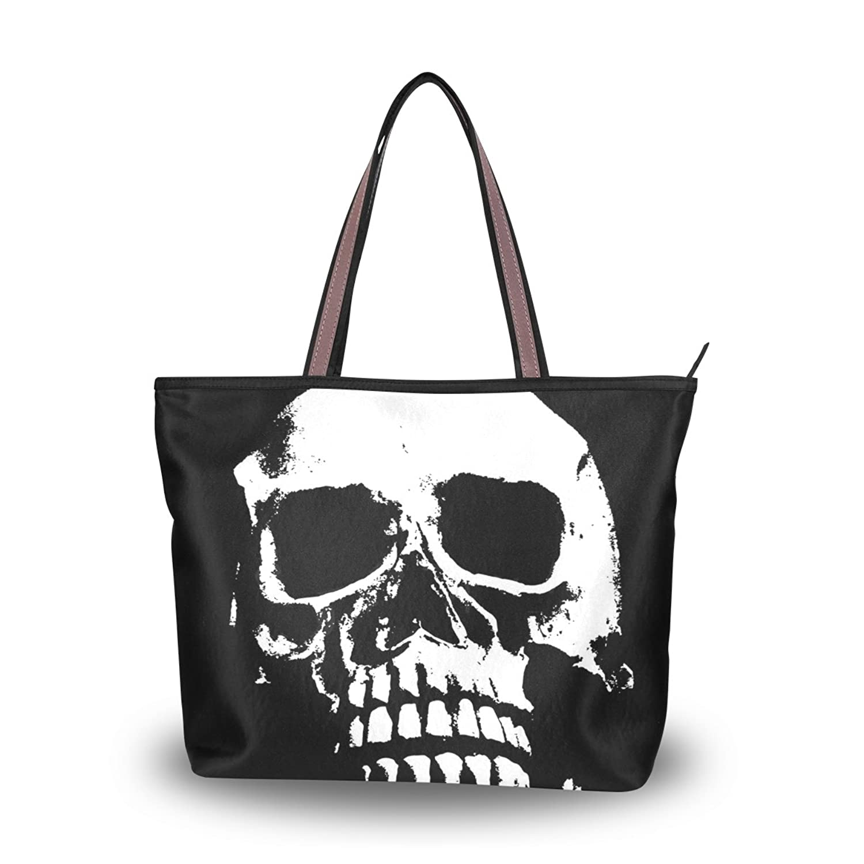 Yochice Handbag Shoulder Bags Black And White Sugar Skull