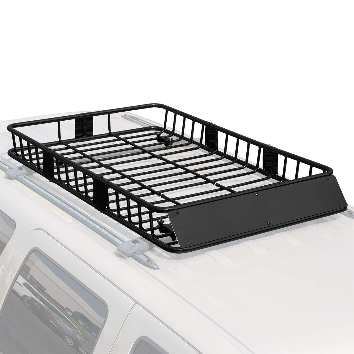 64 Universal Roof Rack Cargo Carrier w//Extension Luggage Hold Basket SUV