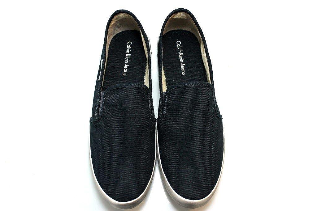 Calvin Klein Sneaker Slip On Zapatos Mocasin Hombre Fabion Lona,45: Amazon.es: Zapatos y complementos