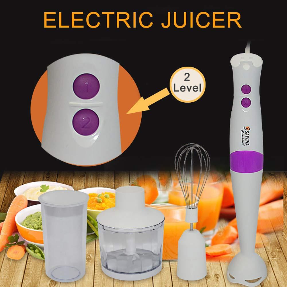 Gyswshh 4-in-1 Electric Blender Meat Chopper Whisk Cup Fruit Vegetable Food Mixer Juicer Purple 220VEU Plug by Gyswshh (Image #4)