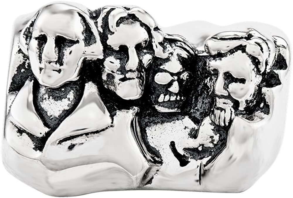 Sterling Silver Reflections Mount Rushmore Bead