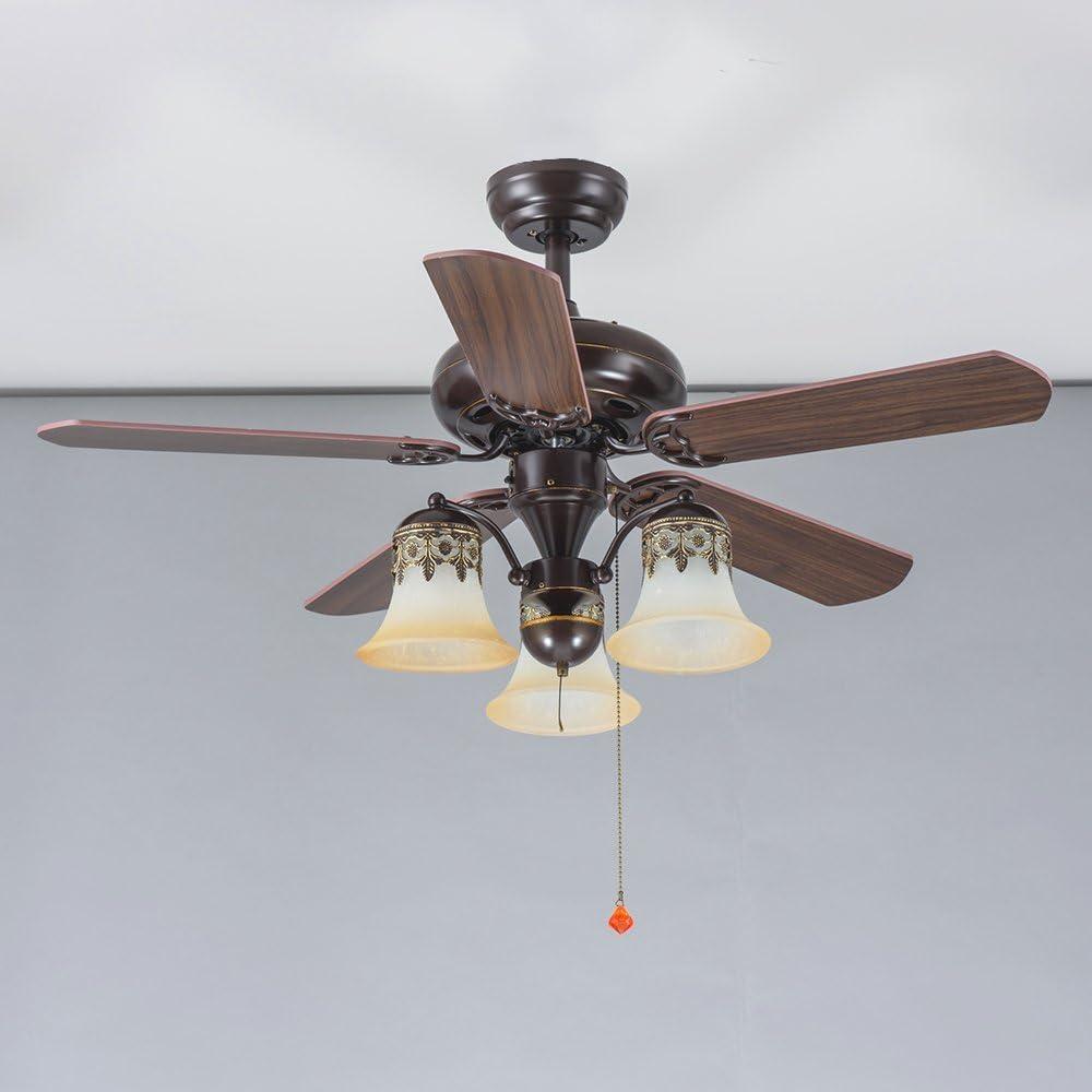 luxurefan elegante clásico ventilador de techo luz portátil para ...