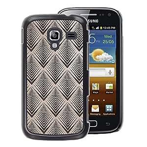 A-type Arte & diseño plástico duro Fundas Cover Cubre Hard Case Cover para Samsung Galaxy Ace 2 (Vignette Retro Wallpaper Pattern)