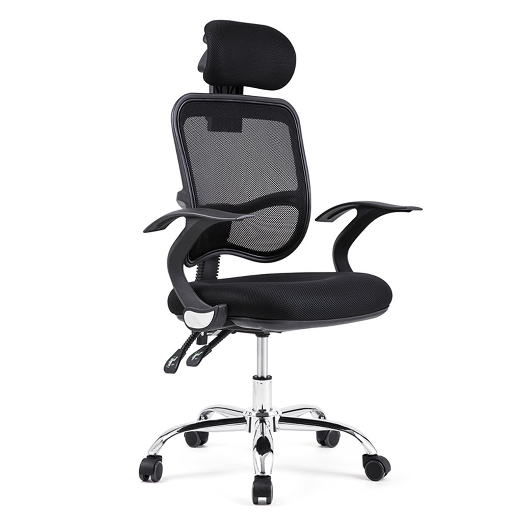 Black 60cm60cm113cm Home Chair Chair That can be Relaxed Home Computer Chair Boss Swivel Chair Office Chair Luxury Chair (color   Black, Size   60cm60cm113cm)