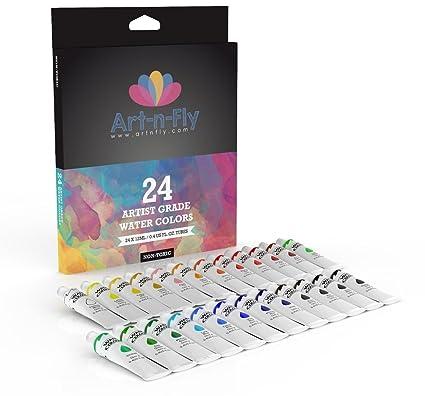 amazon com professional watercolor paint set 24 colors artist grade