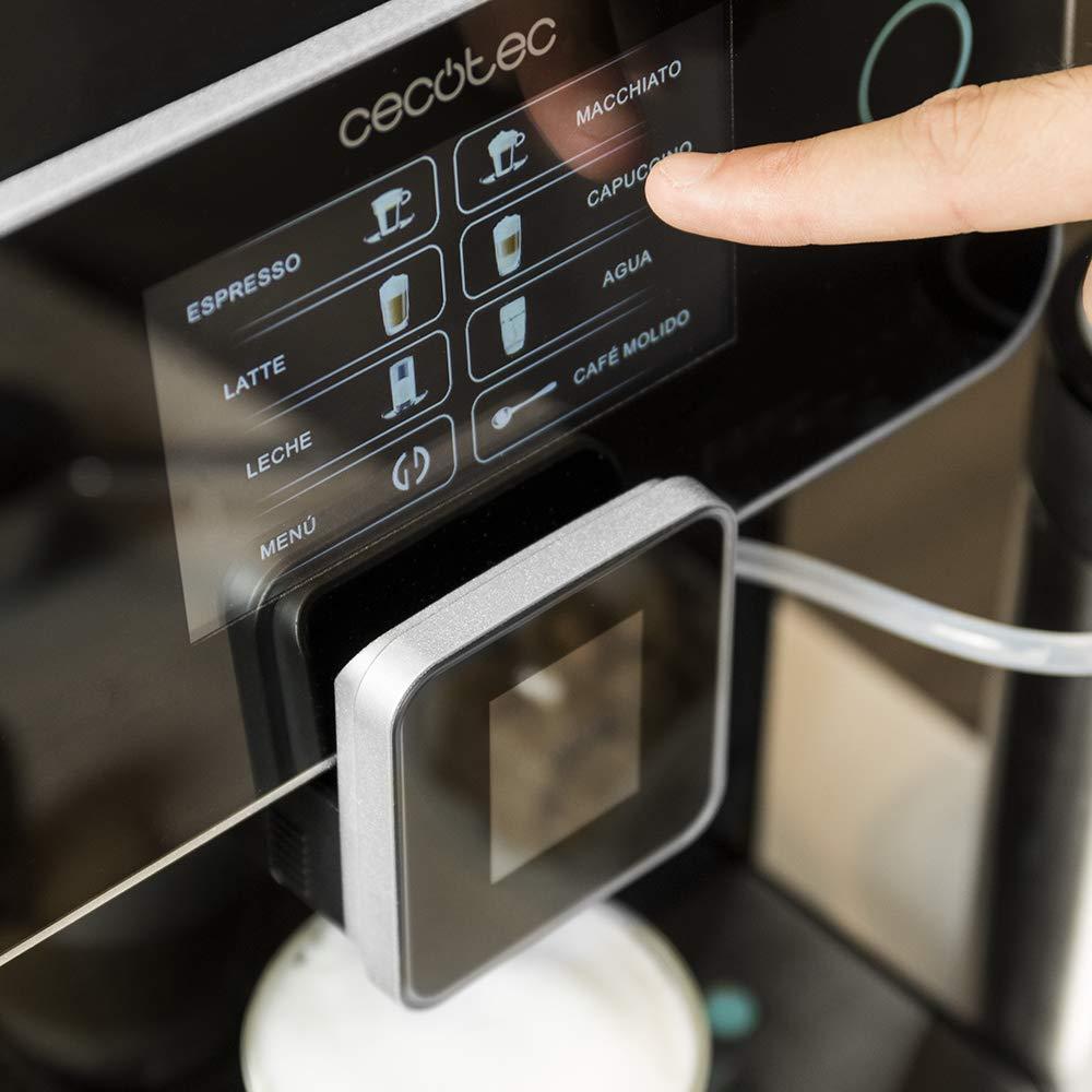 Cecotec Power Matic-ccino 8000 Cafetera Megautomática que muele café con Depósito de leche. Prepara Cappuccino con solo pulsar un botón.