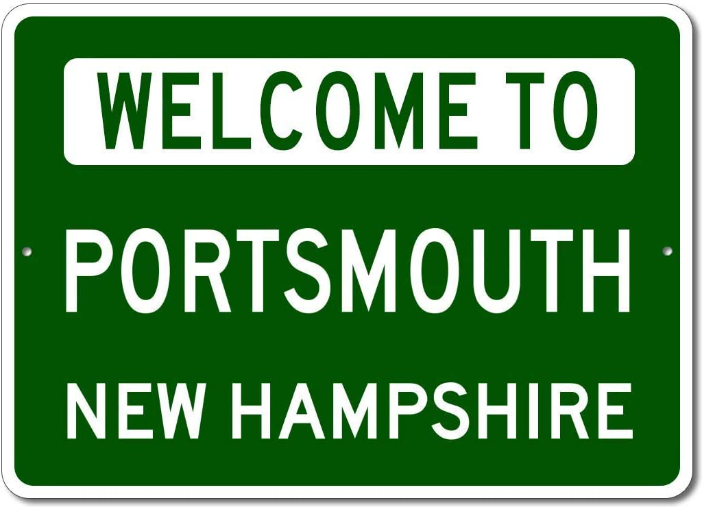 VinMea Personalized Metal Sign Indoor/Outdoor Wall Decor,Portsmouth, New Hampshire - Welcome to Us City State Sign - Aluminum 8