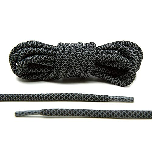 : Lace Lab Black 3M Reflective Round Rope Laces