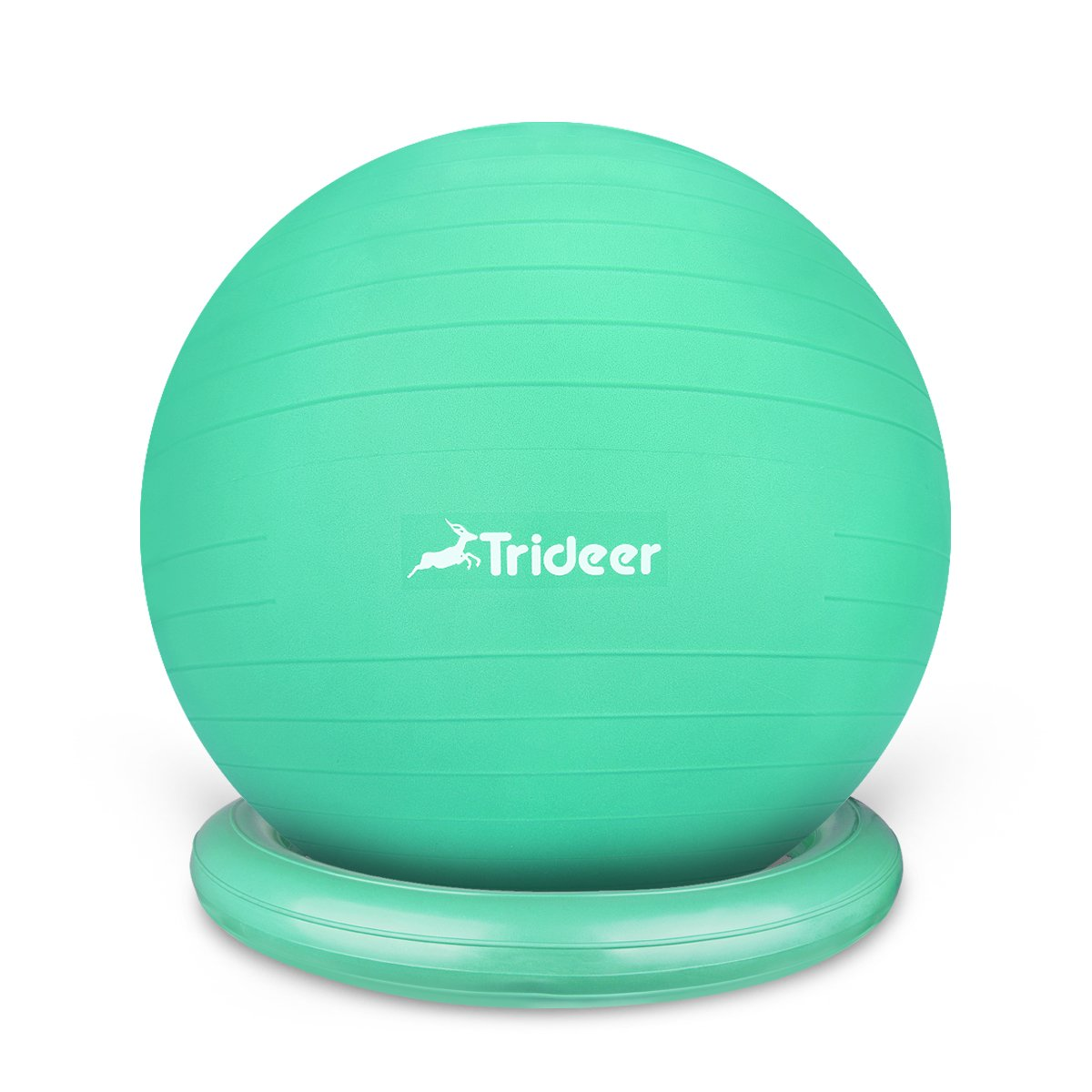 Trideer Ball Chair - Exercise Stability Yoga Ball with Base for Home and Office Desk, Ball Seat, Flexible Seating with Ring & Pump, Improves Balance, Back Pain, Core Strength & Posture£¨Ball with Ring