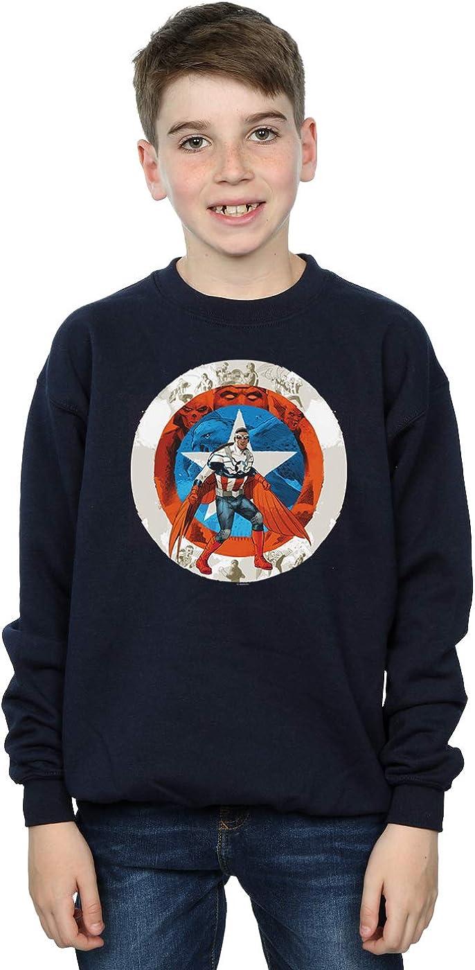 Marvel Niños Captain America Sam Wilson Shield Camisa De Entrenamiento: Amazon.es: Ropa y accesorios
