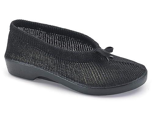 baef2209 Zapatilla salón Mujer Confort Marca CALZAMEDI, Tejido Malla elástica Color  Negro, Plantilla Extraible y Piso Ligero Antideslizante - 0128-110:  Amazon.es: ...
