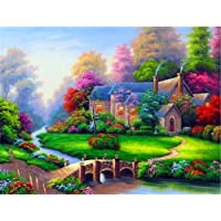 Diamond Painting Kits for Adults Kids, 5D DIY Fairy Tale Cottage Diamond Art Accessories with Round Full Drill for Home…