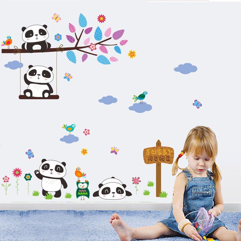 huichang For/êt cr/éative animal hibou enfants chambre chambre sticker mural d/étachable d/écor /à la maison sticker mural