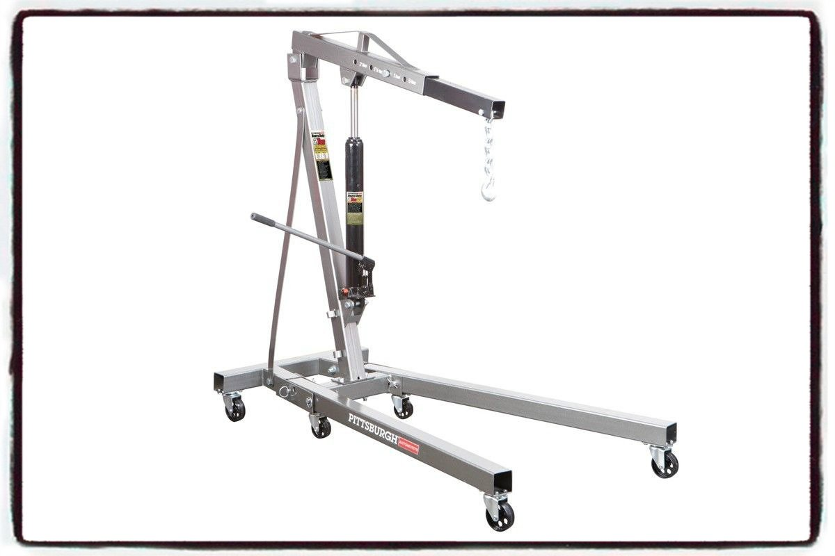 Engine Motor Hoist Garage Lifting Cherry Picker Shop Crane Lift Foldable 2 TON - 4000 LB Capacity - House Deals