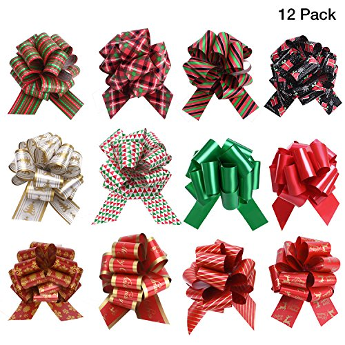 SKINOSM Pull Bows Gifts Wrapping Double-Sided Pattern Gift