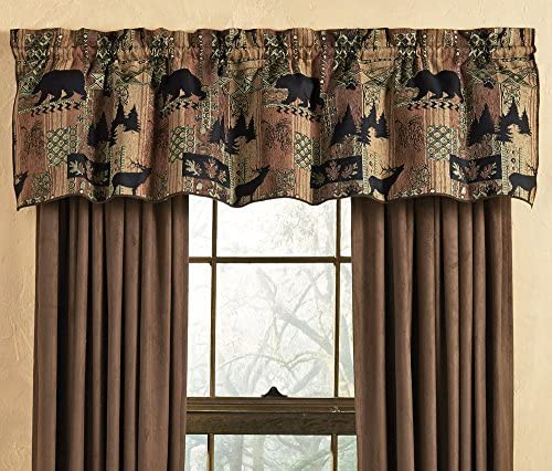 BLACK FOREST DECOR Smoky Mountain Tapestry Lodge Valance
