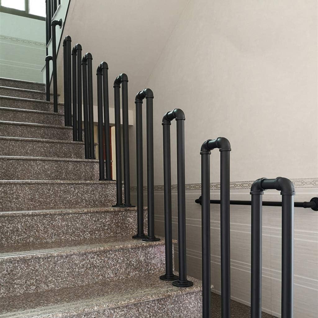 Interiores y Exteriores Pasamanos Escalera Parapeto en Forma de U Desv/án Negro Mate Transici/ón Barandilla de Escalera de Seguridad para escaleras Balc/ón Multi-tama/ño Opcional