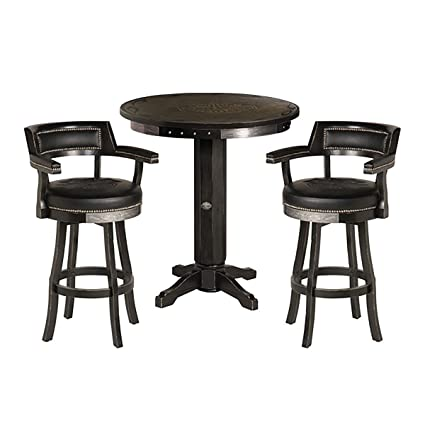 Miraculous Amazon Com Harley Davidson Bar Shield Flames Pub Table Caraccident5 Cool Chair Designs And Ideas Caraccident5Info