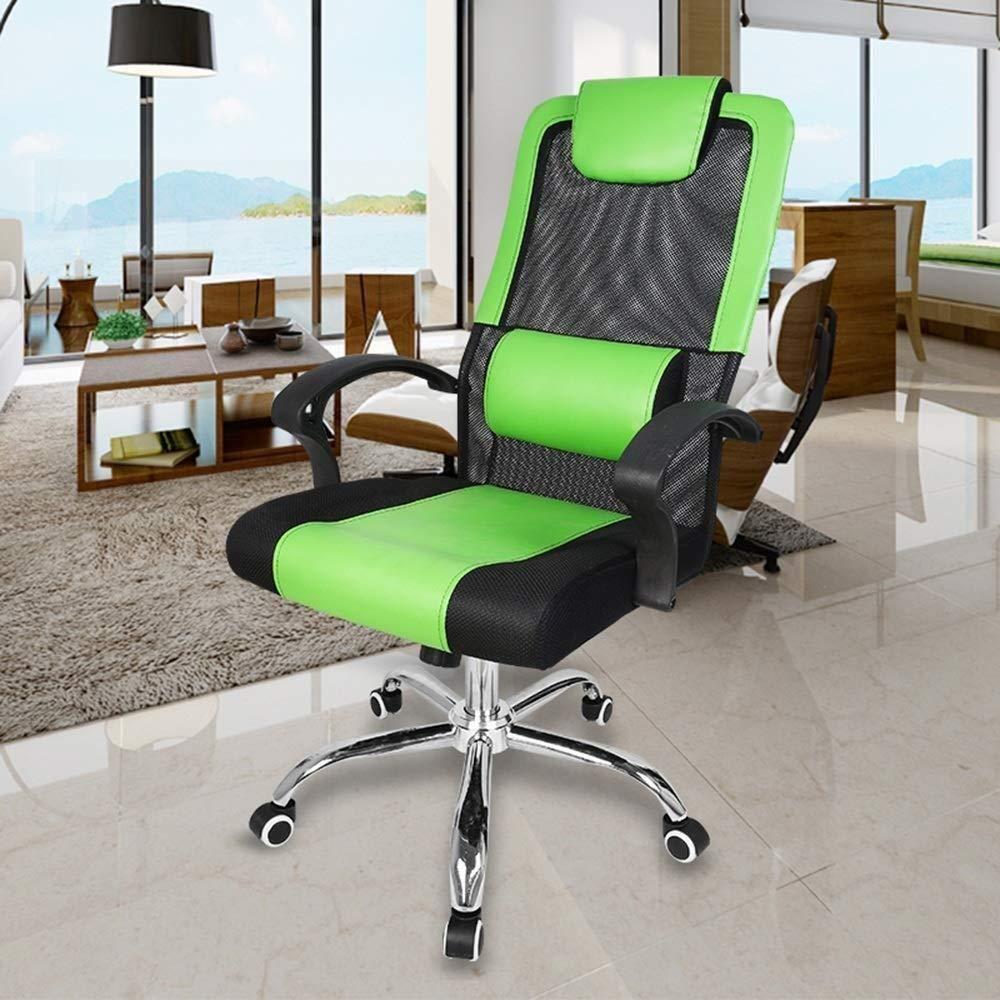 Barstolar Xiuyun kontorsstol spelstol svängbar stol, kontor chef stol roterbar stol lyft hem dator stol mobil lärande stol svängbar stol (färg: svart) gRÖN