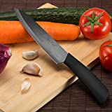 Chef-Knife-Topbest-Professional-Ceramic-Knife-7-inch-Black-Blade-Antiskid-Soft-Handle-with-Sheath-for-Cutting-Fruits-Vegetables-and-Meat-Essential-Kitchen-Knife-for-Making-Delicious-Food