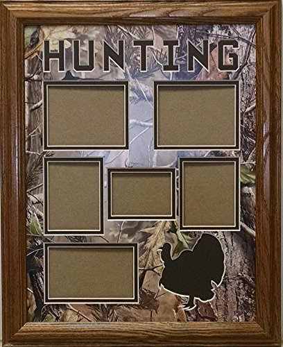 Northern Promotions, LLC. Framed & Matted Wildlife Art Real Tree Hunting Collage-Turkey