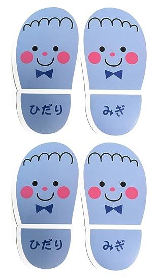 gee\u0027s 靴おきシール 2シート(2足分) ブルー 玄関 おかたづけ 靴のぬぎ散らかし予防 靴を揃える 靴置きマーク (ブルー)