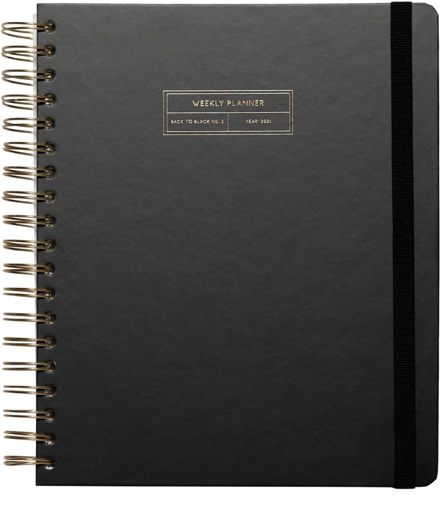 Kokonote by Erik - Agenda 2020/201 Big Size Black to Black, 17 meses (20,8x25,2 cm)