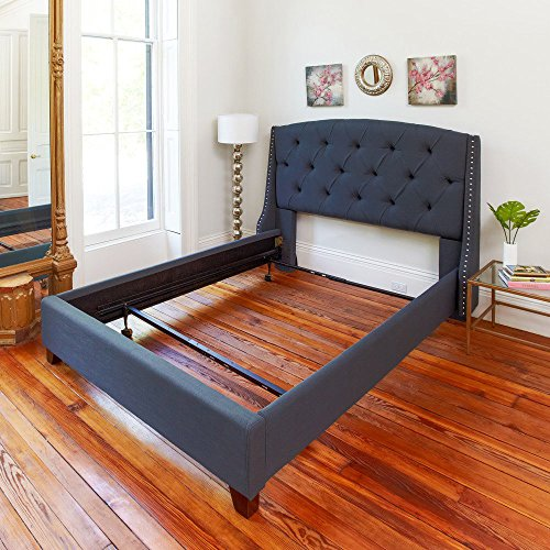 Classic Brands Hercules Standard Metal Bed Frame | Adjustable Width Fits Twin, Twin XL, Full, Queen Standard Queen Bed