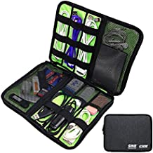 WIOR Waterproof Travel Cable Storage Bag Portable Universal Data USB Cables Organizer Electronics Accessories Travel Case Bag Small Headphone/Charger/ SD Card/CellPhones etc.