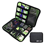 WIOR Waterproof Travel Cable Storage Bag Portable Universal Data USB Cables Organizer Electronics Accessories Travel Case Bag for Small Headphone/ Charger/ SD Card/ CellPhones etc.