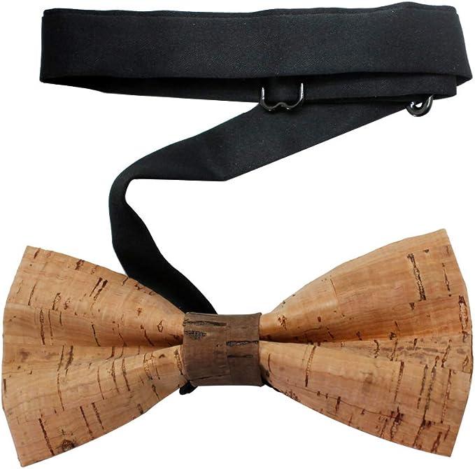 Men Handmade Wooden Bow Tie Novelty Wedding Wood Tuxed Bowtie Necktie