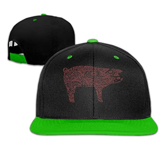 Unisex Fashion Tribal Pig Hip Hop Baseball Caps Snapback Hats at Amazon  Women s Clothing store  47fe81e1936